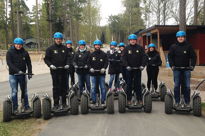Axelent Academy at offroading with segway