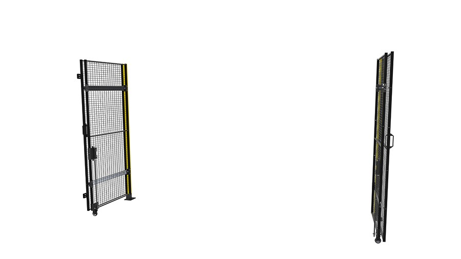 X Guard Combined Hinged Sliding Door Open